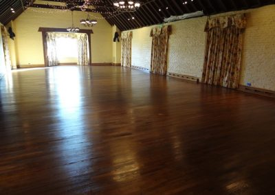 Wood floor ballroom