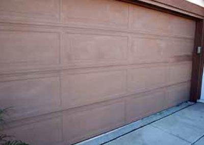 Faded Garage Door