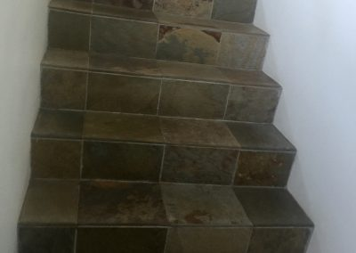 Slate stairs sealed with NO SLIP SKID SAFE SYSTEM™