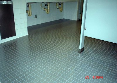 Restrooms Ceramic Tiles Sealed With Skid Safe