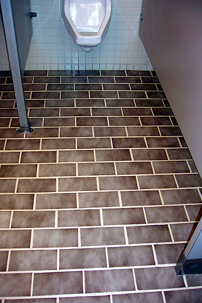 Four Coats Of SKID SAFE On This Tile Floor